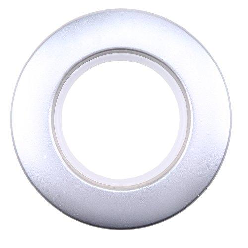 LANDGOO Curtain Grommets 1-9/16 Inch Inner Diameter 16 Pair Matte Silver