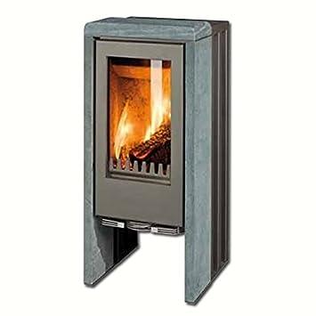 GKT chimenea T-LINE 9,0 kW piedra natural para la leña de horno ...