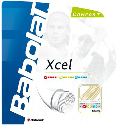Babolat Xcel (16-1.30mm) Tennis String Set (Natural)