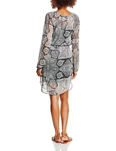 Schwarz Black Mix Dress Kleid Damen fransa Arflared 69996 2 Xwa7nqZ