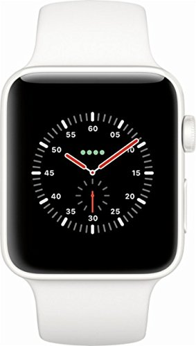 Limited Edition Ceramic - Apple Watch Series 3 42mm Smartwatch (GPS + Cellular, White Ceramic Case, Soft White/Pebble Sport Band) Limited Edition (Refurbished)