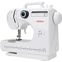 Sunbeam SB-1800 Compact Sewing Machine 4 Step Button Holes and 12 Stitches