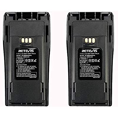 Retevis Walkie Talkie Battery BL3688 Li-ion Battery 7 4V 1800mAh Compatible with Walkie Talkie Motorola CP140 CP150 CP180 CP200 CP400 PR400 CP040 EP450 GP3188 GP3688 Two Way Radio Pcs  Black