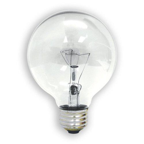 G25 Bulb Globe Watt Clear - GE 26535 40-Watt G25 Crystal Clear Bulbs, 3-Pack