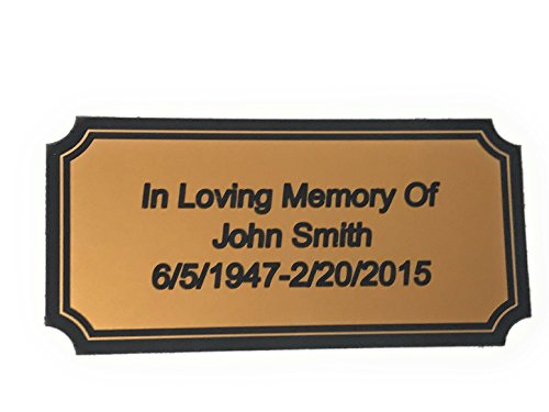 Customized Engraved Brass Plaque Gold Name Plate Custom Engraving