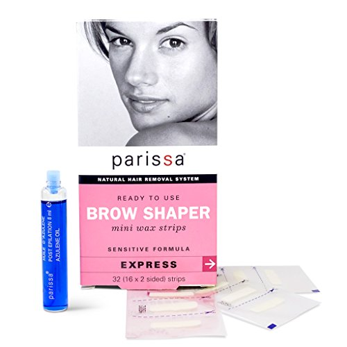(Parissa Eyebrow Shaper Wax Strip, 32 count)