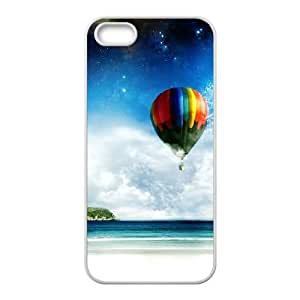 Vintage Hot Air Balloon iPhone 5 5s Cell Phone Case-White Bwszw