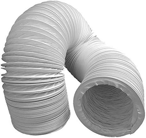 Tubo de salida de aire flexible de PVC, diámetro 100/102 mm, 10 m, por ejemplo, para aire acondicionado, secadora, campana: Amazon.es: Grandes electrodomésticos
