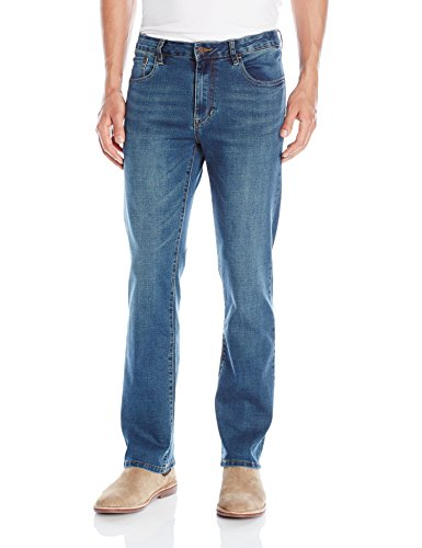 Izod Men's Comfort Stretch Relaxed Fit Jean,34x32,Indigo Blast (Shorts Low Rise Rider)