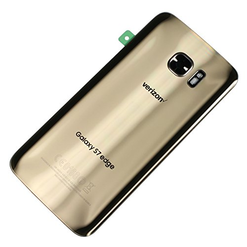 Battery Back Door Glass Housing + Camera Cover Fits for Samsung Galaxy S7 Edge Verizon G935V - Gold