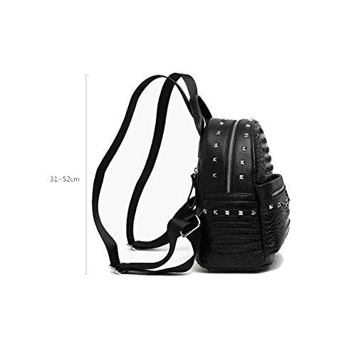 Main Mini Décontracté Mignon à Black Simple Sac Sac Sauvage Femme AJLBT Shopping Dos à Voyage 8qWPZ