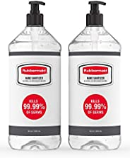 Rubbermaid Gel Hand Sanitizer, Alcohol-Based, Pack of 2 Bottles, 32 Ounces Each, Made in The USA