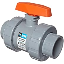 """Hayward TB2200ST TB Series CPVC Ball Valve, True Union, FPM Seals, 2"""" Socket and Threaded Connections"""