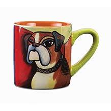 Paw Palettes Boxer Pawcasso Ceramic Mug, 16 oz, Multicolored