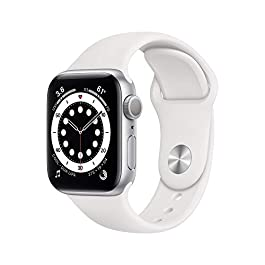 New AppleWatch Series 6 (GPS, 40mm) – Silver Aluminum Case with White Sport Band