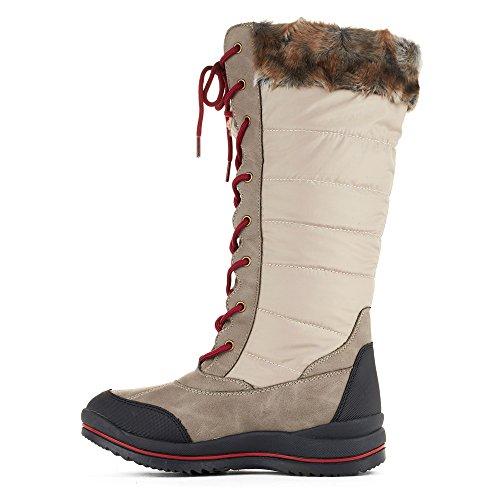 Zapatos De Puma Para Mujer Castillo Botas De Nieve Avena Visage Nylon