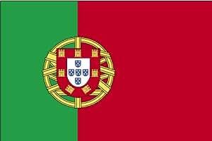 Annin Flagmakers 4pies x 6pies. Bandera de Portugal para desfiles y pantalla con flecos