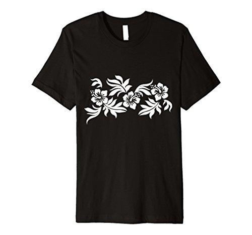 Hawaii National Costume For Men (Mens Hawaiian Print T Shirt | Vintage Retro Flower Tattoo XL Black)