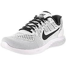 NIKE Men's Lunarglide 8 Running Shoe (White/Black, 8.5 D(M) US)