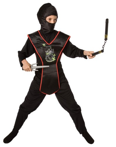 [Ninja Child Costume Kit, One Size (Fits Sizes 4-8), Black by Unknown] (Childrens Ninja Costumes)