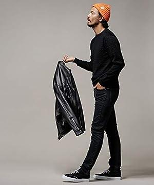 [ナノユニバース] セーター 毛玉レス ニット 12GG ケーブル クルーネック ニット メンズ