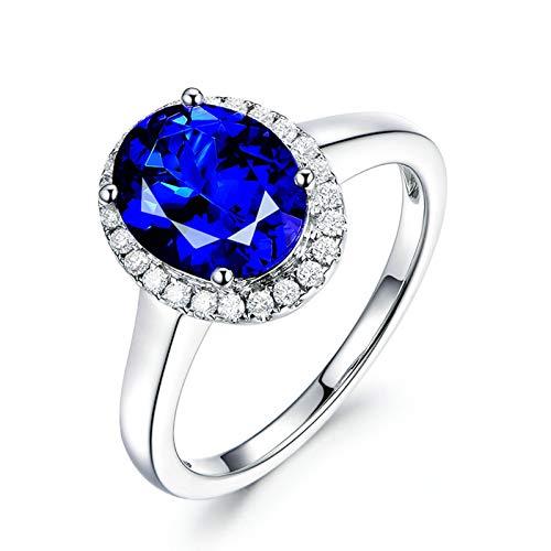 White Gold 18K Tanzanite 2.09ct Blue Oval ()