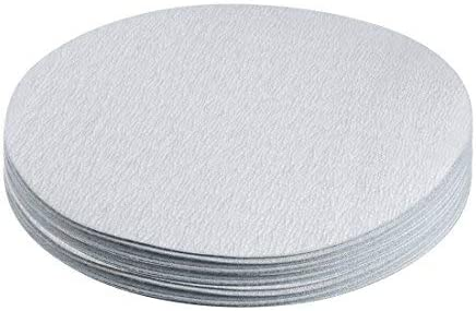 20 pcs 7 inch aluminum oxide white hook and loop dry sanding discs 400 grit flocked sandpaper