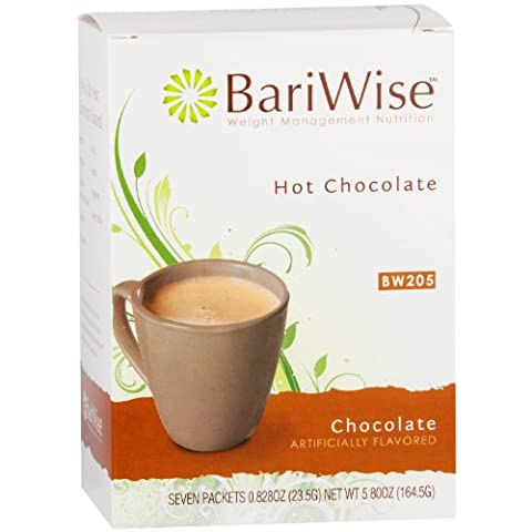 BariWise High Protein Hot Cocoa / Instant Low-Carb Hot Chocolate Mix (15g Protein) - Chocolate (7 Servings/Box) - Low Calorie, Low Fat, Low Carb, Aspartame Free, Gluten - Hot Chocolate With Cocoa Powder