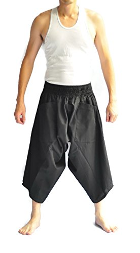 Siam-Trendy-Mens-Japanese-Style-Pants-One-Size-All-Black-All-Black