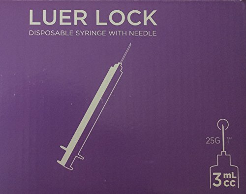 Package of 20 sterile 3mL 25g x 1in