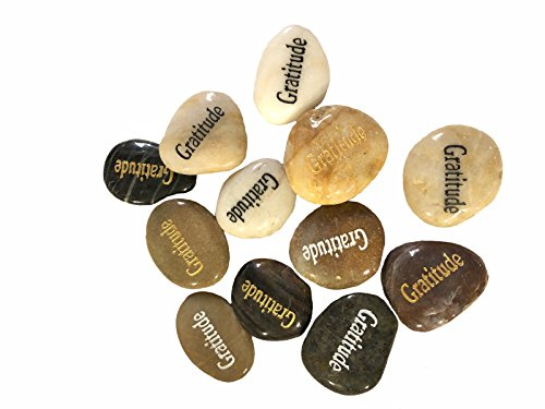 Cheap Wholesale Inspirational Word River Stones Etched Bulk Lot 100pcs Big Stones Gratitude