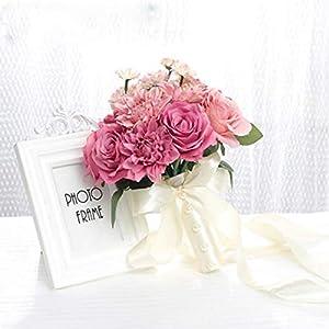 Balalei New Purple White Wedding Bouquet Handmade Artificial Flower Rose buque Casamento Bridal Bouquet for Wedding Decoration,As Pic,China 44
