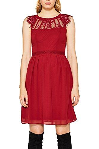 ESPRIT Collection Vestido para Mujer Rojo (Dark Red 610)