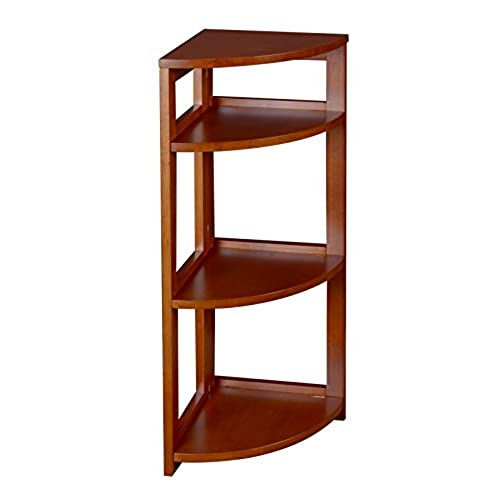 Regency Flip Flop 34 Inch High Corner Folding Bookcase  Cherry