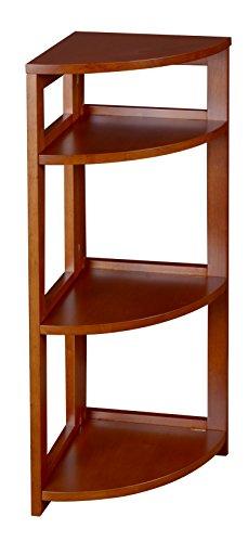 Regency Flip Flop 34-inch High Corner Folding Bookcase- Cherry by Regency (Image #1)
