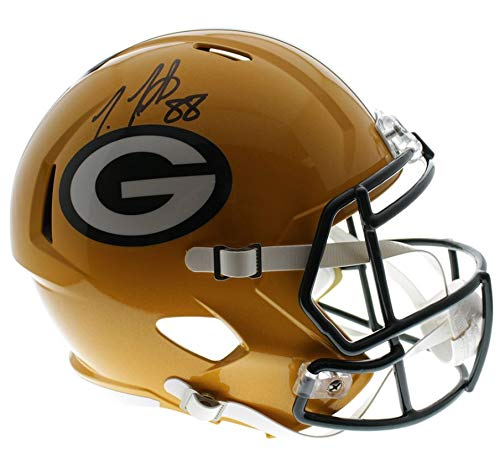 Ty Montgomery Green Bay Packers Autographed Signed Riddell Full Size Replica Helmet - JSA Authentic