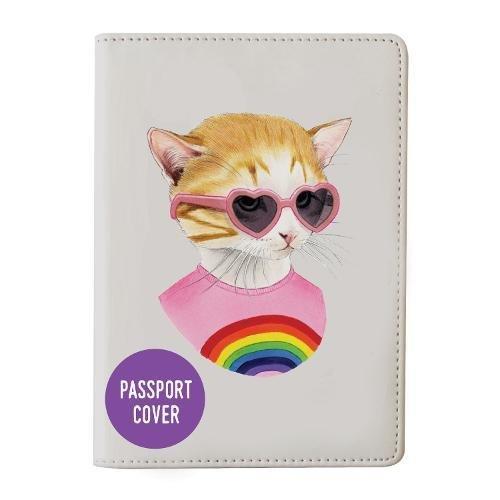 Berkley Bestiary Rainbow Kitten Passport Cover