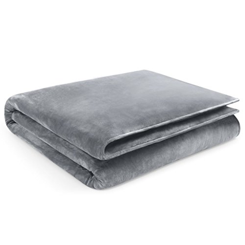 """Restorology Weighted Blanket - Ultra Plush Gravity Blanket - Multiple sizes for Children & Adults. Great for Anxiety, ADHD, Autism, OCD, and Sensory Processing Disorder - 8LB - 48"""" x 72""""- Gray"""