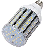 30-Watt (250-Watt Replacement)Super Bright LED Corn Light Bulb, High Output 3000-Lumen, E26 Medium Base, 3000K Warm Light Garage Bulb for Large Warehouse Shop Basement Barn Porch Post Street Bulbs