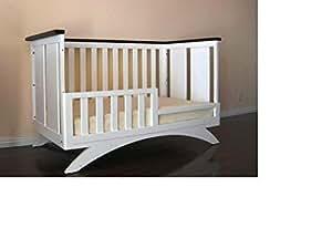 Eden Baby Madison Collection Crib, White/Espresso