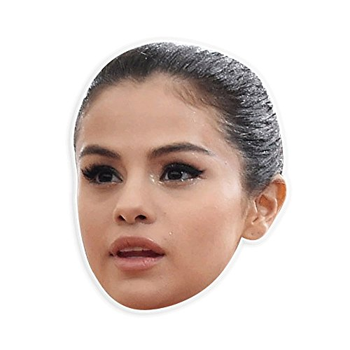 Unwelcome Greetings Angry Selena Gomez Mask - Perfect for Halloween, Masquerade, Parties, Events, Festivals, Concerts - Jumbo Size -