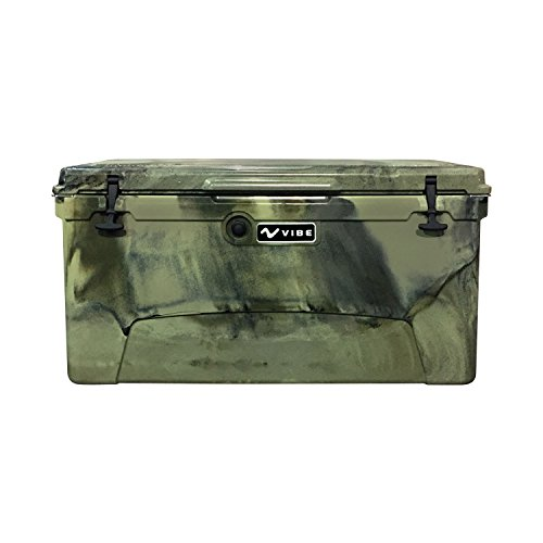 (Vibe Element 110 Quart Rotomolded Hard Shell Cooler with Bottle Opener, Hunter Camo)