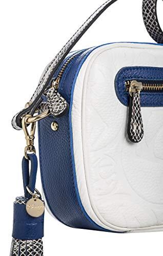 Grano Piel Serpiente Logotipo Tipo Ana Blanco Detalle Petusco Azul Vacuno Y Grabado De q8xOKfFqw