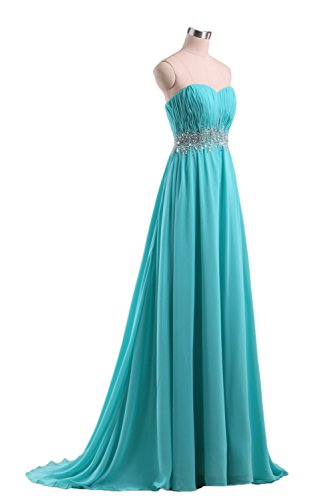 Sequins Line Prom Evening Sweetheart Chiffon DKBridal Pink A Gowns Women's Bridesmaid Dresses w1p1CqEY