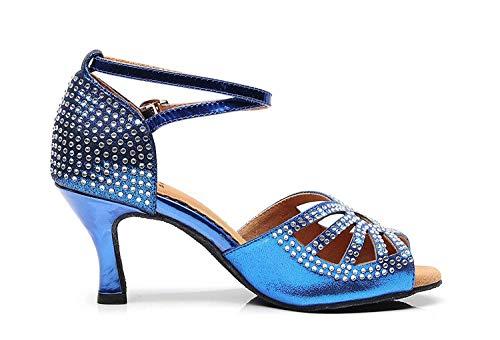 Dimensione Sparkle Med Blue Uk Ballo Heel Scarpe Da colore Ladies 8 Festa Studded Qiusa Crystalds Sandali 5wqZ5IF