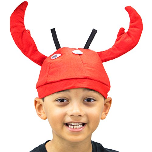 Lobster Hat Halloween Costume Accessory - Dress Up Party Roleplay (Lobster Costume Halloween)