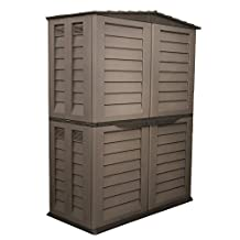 Starplast Tall Garden Shed, Mocha/Brown