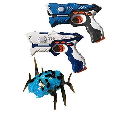 Wonderstar Toys - Laser Tag Blasters - 2 Blaster and 1 Mechanical Spider Set (Laser Target Set)