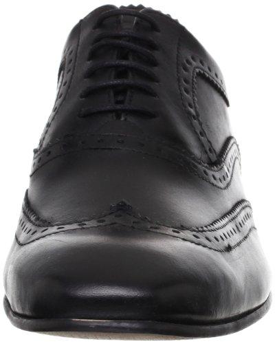 Muscade Chaussures En Cuir Pour Homme Noir