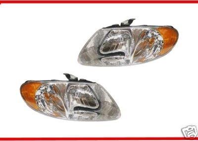 2001-2007 Dodge Caravan Headlight Set Lh Driver and Rh Passenger Headlights 01 02 03 04 05 06 07 Left and Right Hand Headlamp Pair for 2001 2002 2003 2004 2005 2006 2007 Headlamps (01 02 03 04 Headlamp)